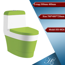 HS-8048 siphonic colored simple design ceramic cheap one piece indian model toilet
