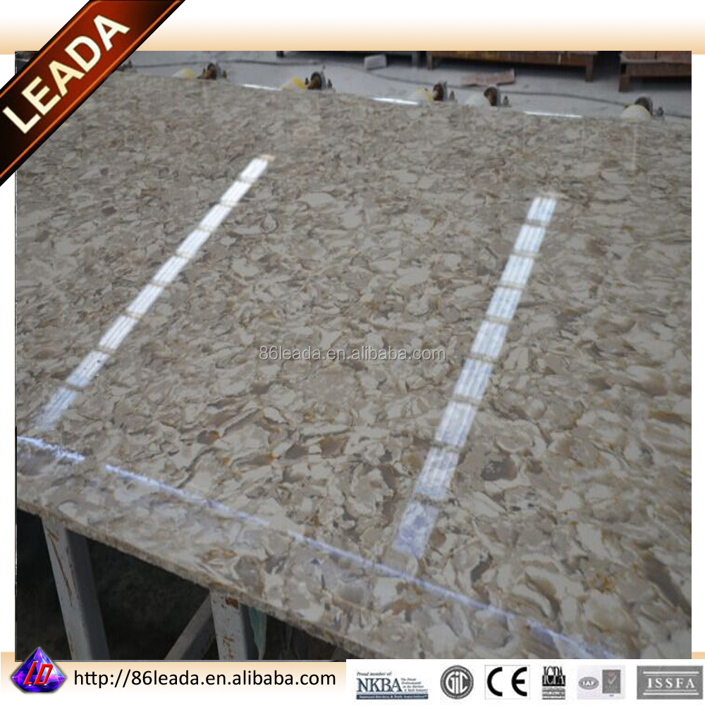 Artificial marble color quartz stone