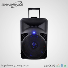 single 15 inch subwoofer 100W active loudspeaker pro audio speaker