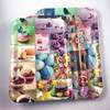 Top one sales plastic colorful dessert printed rectangular sweet shop serving tray
