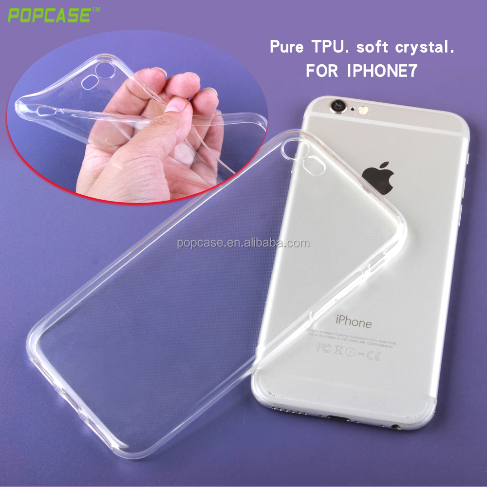 1mm Ultra Thin TPU Phone Case For iphone 7/7S TPU back cover