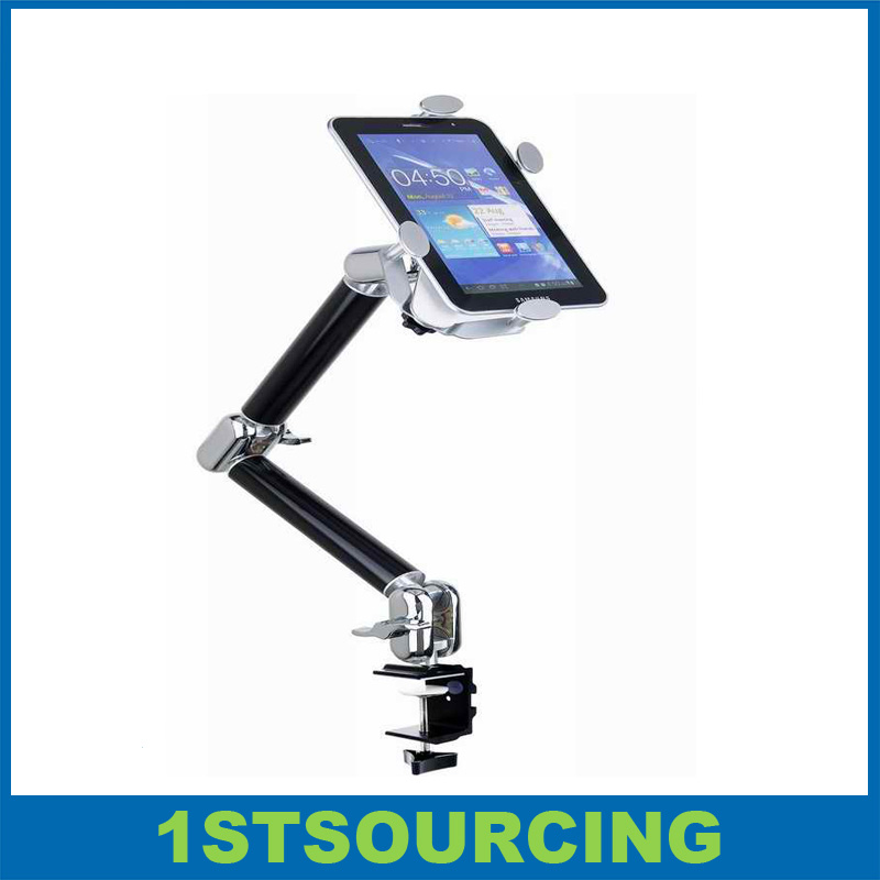 For iPad Stand Mount, Table Bed Clamp Universal Tablet Holder