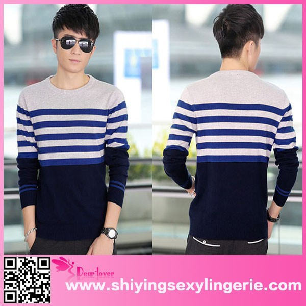 Top quality custom colorful Male Winter Pullover sweater designs pictures