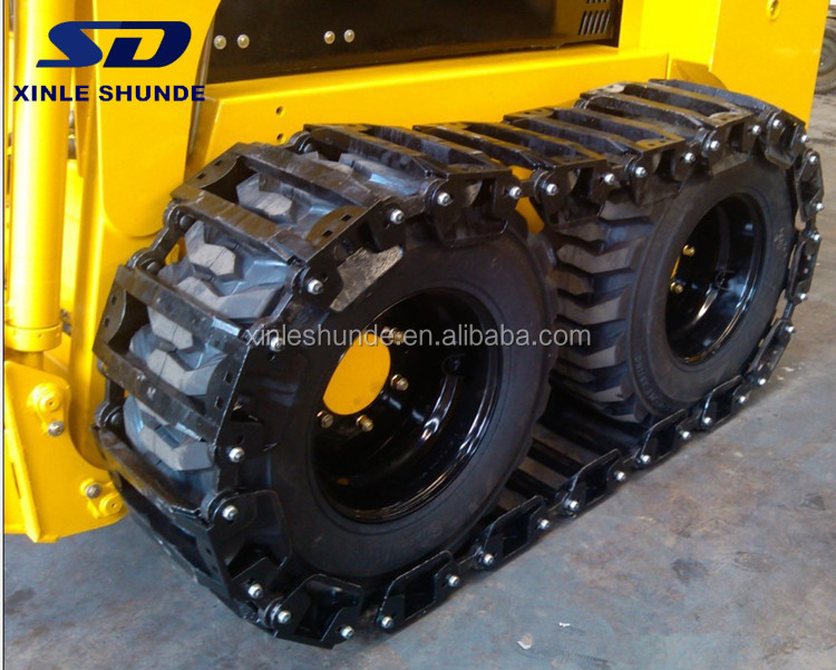 Skid Steer OTT Steel Track Over The Tire Tracks