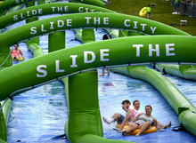 2016 inflatable screamer water slide inflatable slip and slide for city