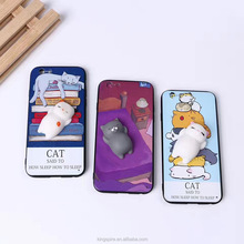 3D Silicone Mushy Squishy Mochi Case Cover For iPhone 7 Case Mobile Phone