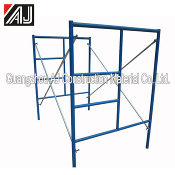 914 1219 1524 Guangzhou AJ steel ladder frame scaffolding for sale