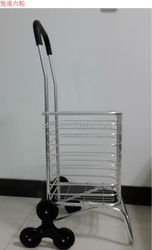RH-FC04 Size 28*31*93cm eight wheels Folding Style Metal Material stair climb shopping trolley