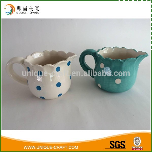 Delicate Tea Colorful Ceramic Milk Jug for wholesale