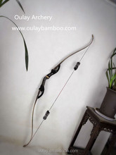 Wood riser/takedown Laminated Recurve Bows Imitation Bison Black Split Bow