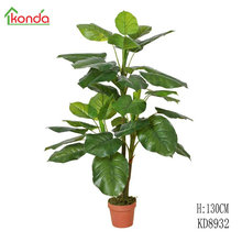 130cm height Plastic bonsai tree, artificial scindapsus aureus evergreen taro plant, hand made plants home or outdoor decor