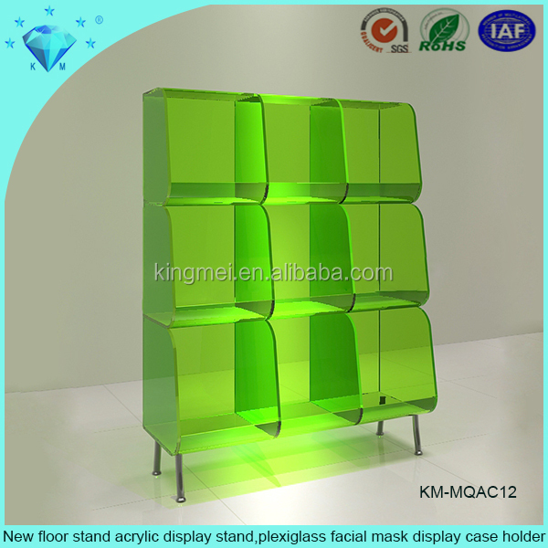 New floor <strong>stand</strong> acrylic display <strong>stand</strong>,plexiglass facial mask display case holder