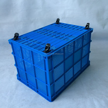 Wholesale plastic colored milk crates plastic moving boxes with wheels