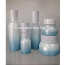 2017 Blue Glass Beer Bottle With Cap Cosmetic Packaging Opal Sets Coating Available