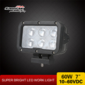 "7"" LED Light 60W Truck Lights 24v Worklamp LED 12V 10w Cree LED Spotlight"