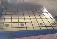 Surveying Equipment Cast Iron Inspection Table With Holes