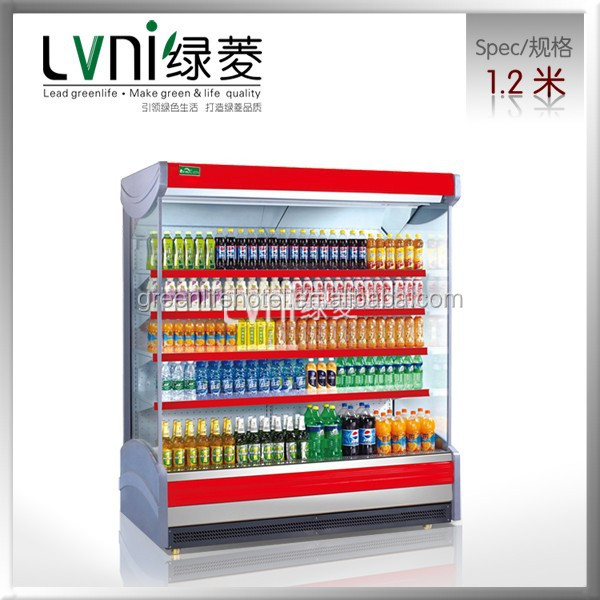 greenlife guangzhou groceries display cabinet refrigerator /cold showcase display refrigerators