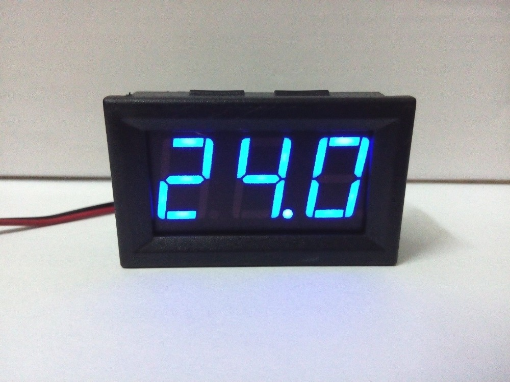 2016 new arrival Small Portable 2 wire LED Digital Voltage Meter Voltmeter DC 4.5~30V blue,red,green
