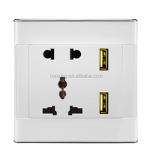 Hot sell wholesale usb EU UK wall socket for factory supply