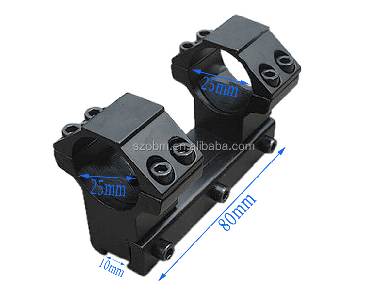 New Arrival 25mm Aluminium Alloy Double Ring Mount 11m Weaver Rail Riflescope Flashlight Mount