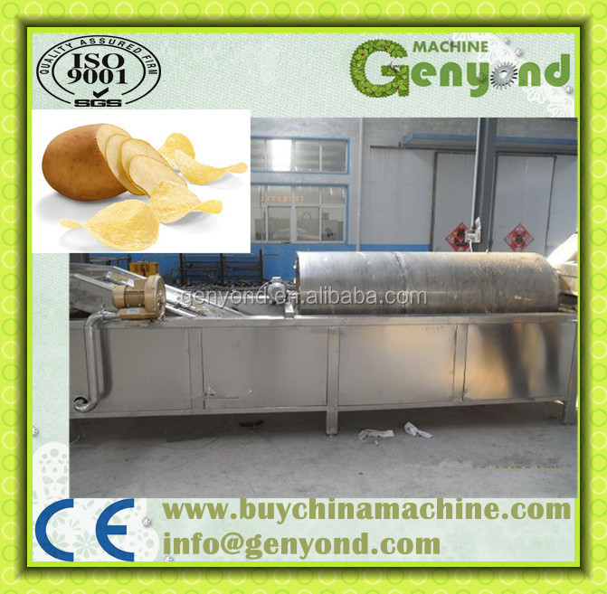 Commercial potato snack machine / french fries making/packing machine