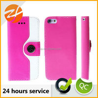 Quick Lead Custom-Made Price Cutting For Iphone 5S 5 Genuine Leather Flip Wallet Case Cover