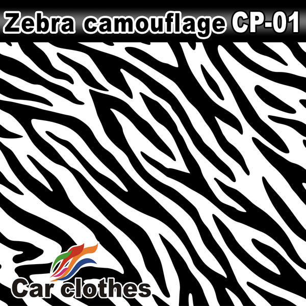 Car Clothes 1.52*30m air free bubbles auto protective White Camouflage Wraps Vinyl Film Sticker For Car Stickers