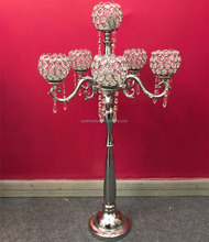 6 arms crystal centerpieces decorating candelabra for wedding and event