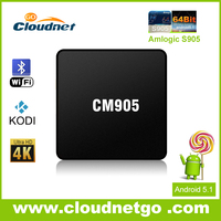 2016 Newest Cloudnetgo Original mini tv box 4k support Amlogic S905 Quad core A53 2.0GHz 64bit With kodi 15.2 Wifi Internet TV