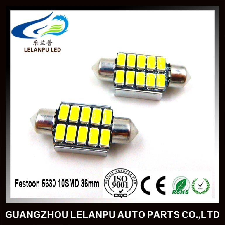 Festoon 5630 Interior LED 36mm 10SMD Canbus Dome Map Number Plate Light