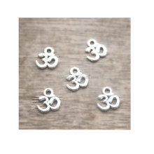 OM Charms Antique Tibetan Silver Tone Yoga Ohm Aum Symbol charm Pendants 10x10mm