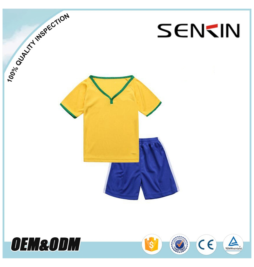 OEM European 2017 New Ireland National Team Kids Soccer Jerseys and Shorts