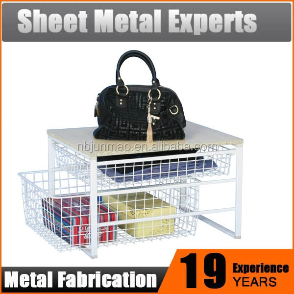 Space Saving Home Goods Storage Unit Collapsible Wire Mesh Baskets storage basket kitchen cabinet organizer