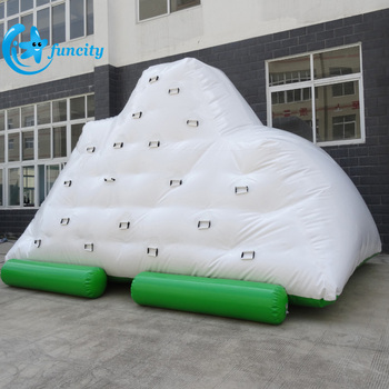 6m L*4m W*5m H inflatable iceberg EN15649 water park inflatable floating iceberg for resort