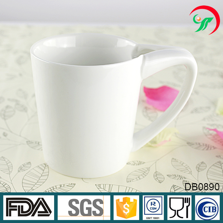 OEM ceramic 300ml white coffee espresso tea cup for home hotel restaurant