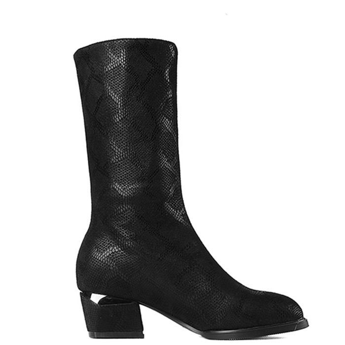 Women Shoes Low Heel Synthetic Leather Knee High Boots