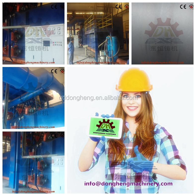 Sa2.5 roughness standard Roller Conveyor Aluminium Profile Shot Blasting Machine/Steel Bar Shot Blasting line