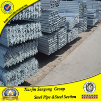 Hot dipped zinc galvanized steel equal angle