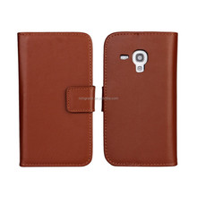Luxury mobile phone leather wallet case for Samsung galaxy S Duos 2 S7582 Trend Plus S7580