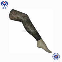 Wholesale Women Black Fishnet Knee Stocking with Tattoo