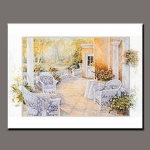 BC13-9019 handmade garden beautiful greece landscape painting