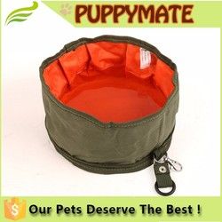 Oxford foldable pet dog bowl for outdoor/travel
