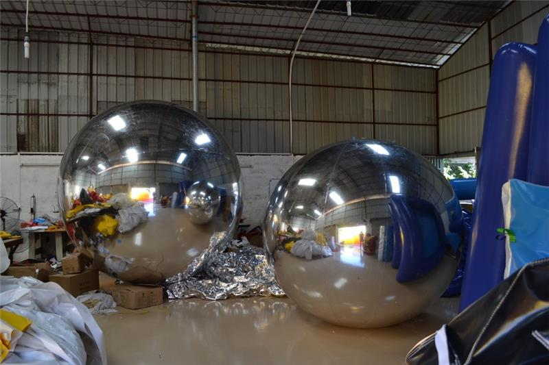 Fashion shiny christmas mirror balls for advertising / advertising blimp for sale