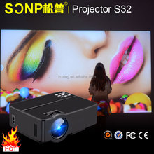 2017 Newest dlp home theater projector home video projector LED