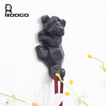 ROOGO Aritificial Animal Cattle Home Decoration Single Wall Hooks and Hangers