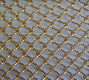 Factory Architectural Facades Metal Decorative Wire Mesh Curtain