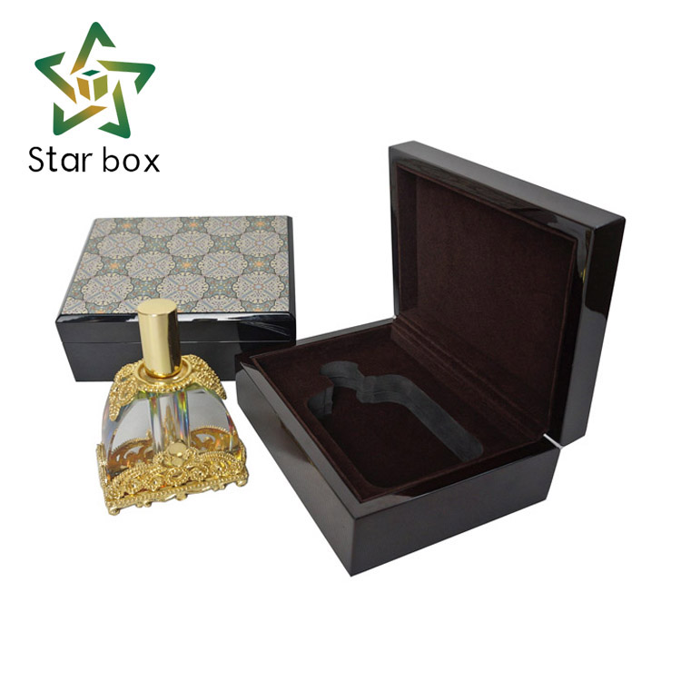 Star box manufacture wholesale small wooden oud boxes, luxury wooden gift box for perfume package