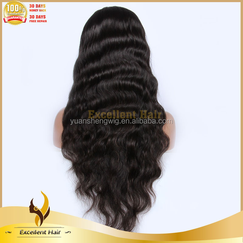 Medium Cap Human Hair Wig Silk Straight Full Lace Wig With Baby Hair For Sale