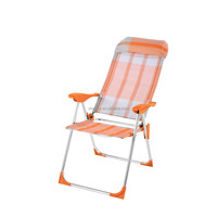 Deck Recliner Cheap Teslin Folding Camping Chair with Pillow
