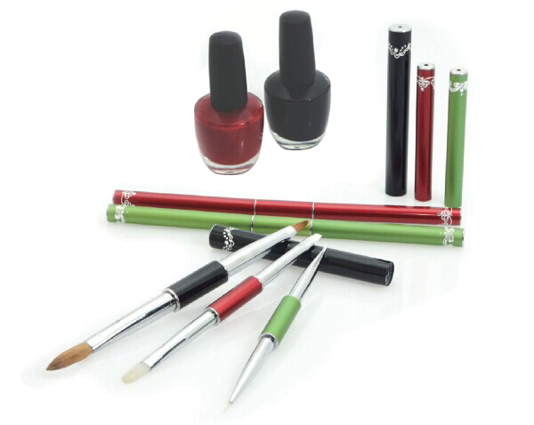 Hot sell kolinsky sable hair nail art brush set, nail polish applicator brush wide